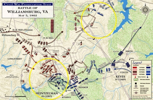 Battle of Williamsburg map